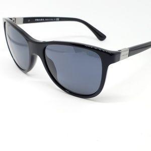Prada Sunglasses Shiny Black w/Grey